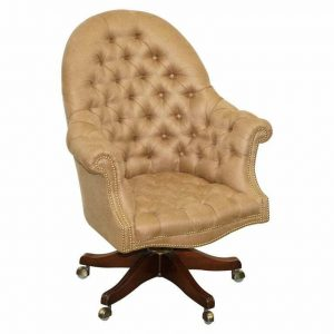 ONE OF A KIND FULLY RESTORED MAHOGANY CHESTERFIELD CAPTAINS DIRECTORS ARMCHAIR