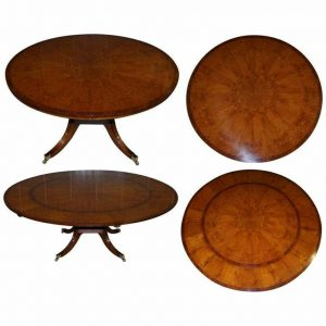 BRAND NEW CLUSTER OAK EXTENDING JUPE ROUND DINING TABLES SEATS 6 – 10 PEOPLE