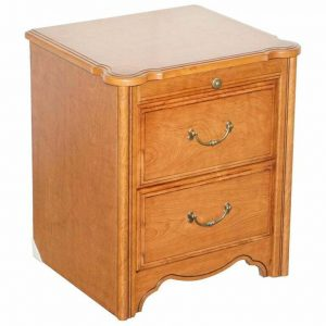 SILENT NIGHT BEDSIDE TABLE CABINET WITH BUTLERS SERVING TRAY FOR DRINKS & SNACKS