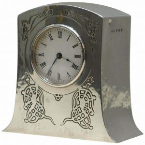 SOLID STERLING SILVER LIBERTY'S LONDON 1915 MINIATURE CARRIAGE CLOCK TUDRIC FEEL