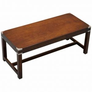 LUXURY RRP £2400 KENNEDY HARRODS LONDON MILITARY CAMPAIGN COFFEE COCKTAIL TABLE