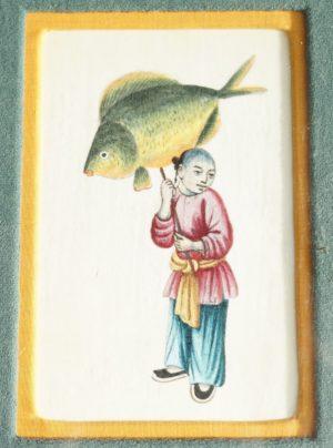 ORIGINAL LIBERTY LONDON 19TH CENTURY CHINESE CANTON BRUSH PAINTING WATERCOLOUR