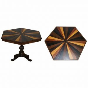 SUBLIME 19TH CENTURY ANGLO INDIAN SPECIMEN SAMPLE WOOD CENTRE OCCASIONAL TABLE
