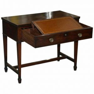 1790 GILLOWS CUBAN MAHOGANY LIBRARY SECRETAIRE DESK WRITING TABLE I BRAMAH LOCK