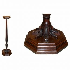 STUNNING ANTIQUE VICTORIAN MAHOGANY HAND CARVED JARDINIERE PLANT STAND PEDESTAL